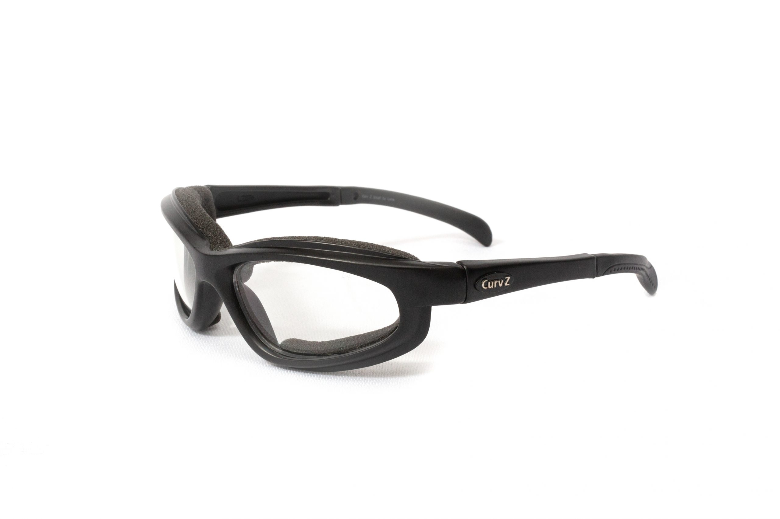 02-15 - CurvZ Small Clear Sunglasses in Matte Black Frames and Clear Lenses