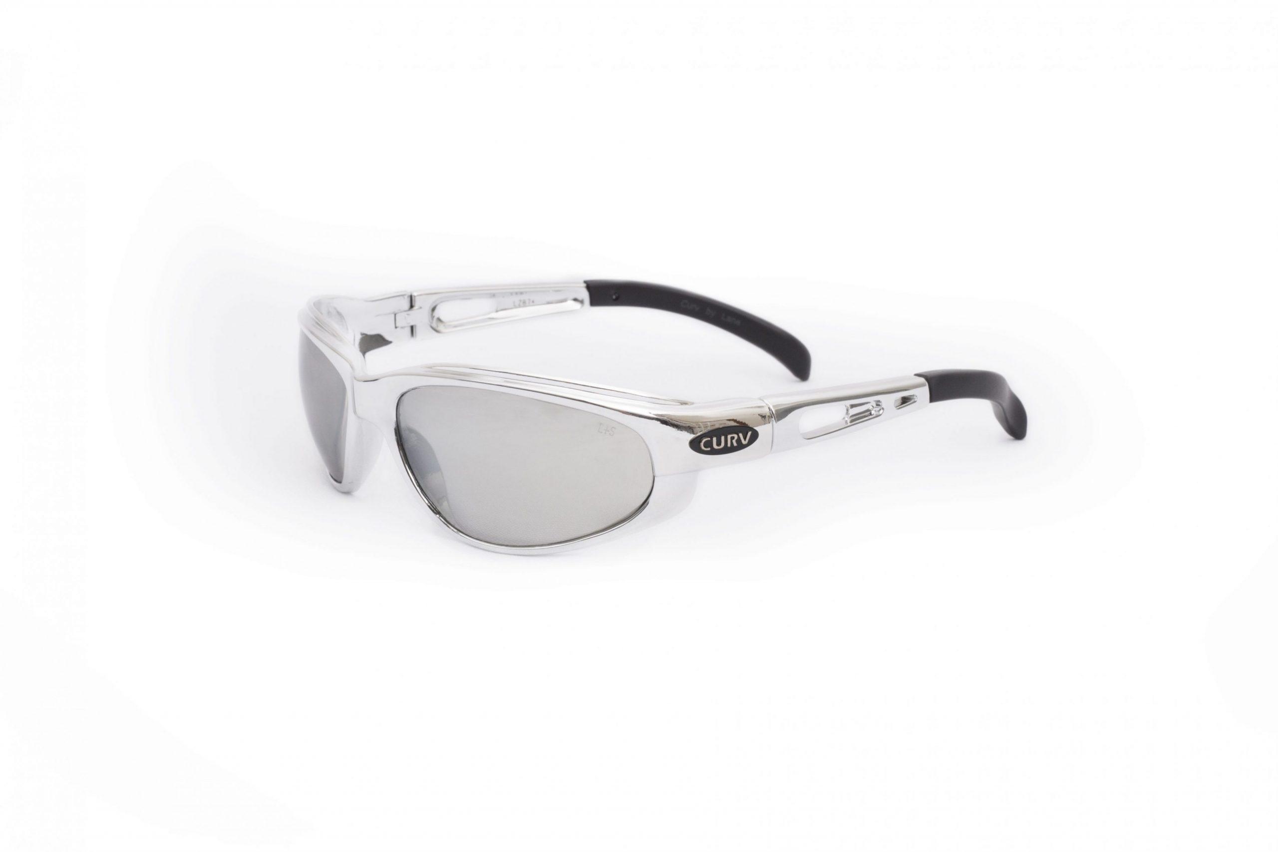 01-22 - Curv Silver Chrome Sunglasses with Smoke Mirror Lenses