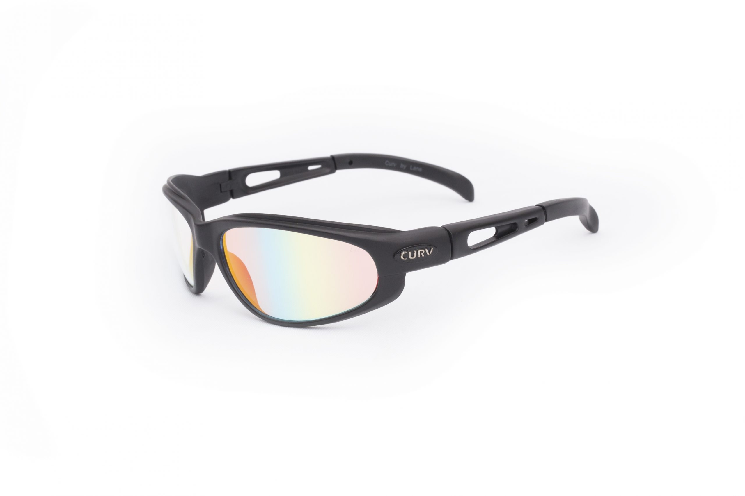 01-31 - Curv Black REVO Sunglasses with Fire Red Mirror Lenses and Matte Black Frames