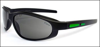 01-65M - CurvEX Green Matte Sunglasses with Smoke Lenses and Matte Black Frames