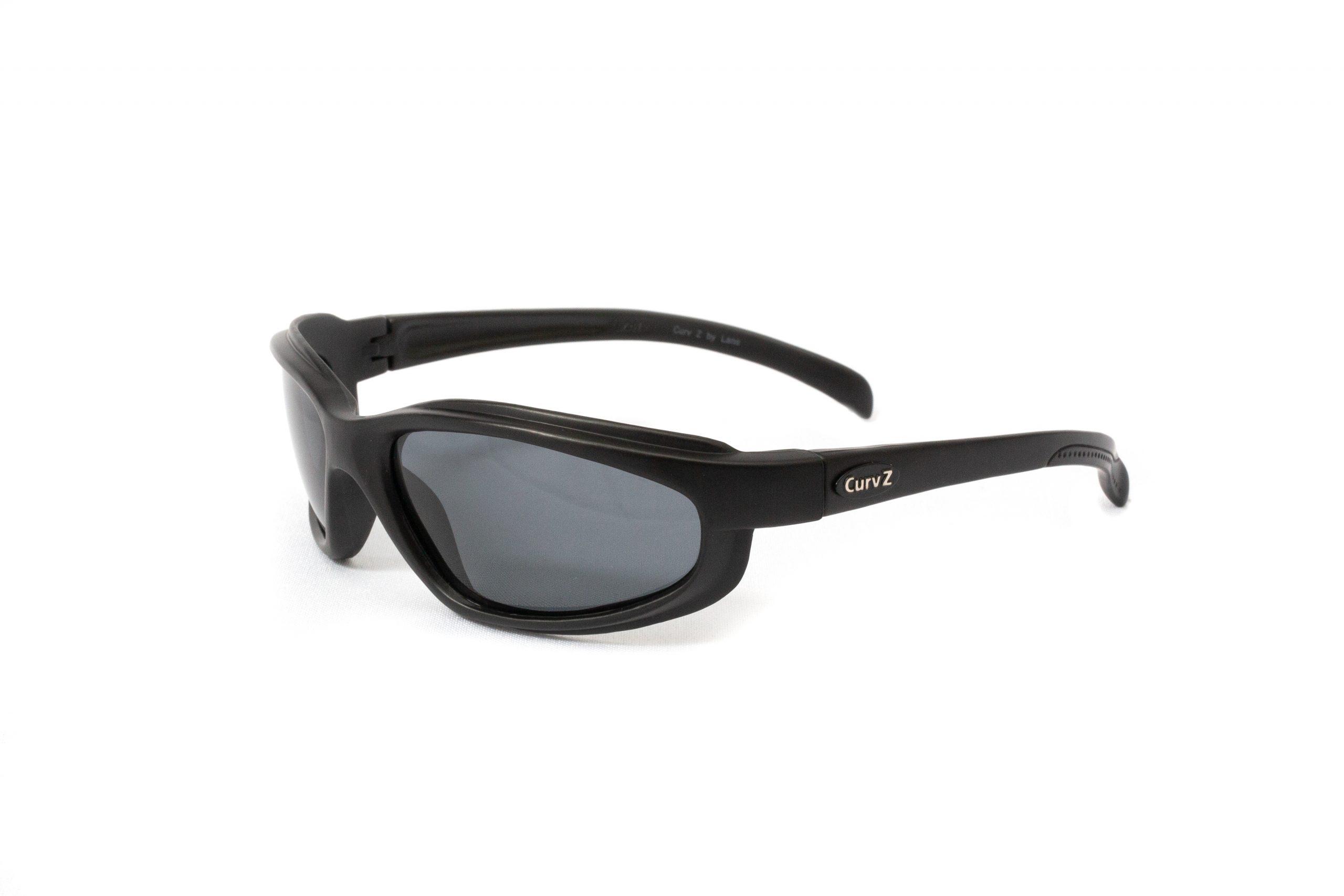 02-20 - CurvZ Polarized Smoke Sunglasses with Smoke Lenses and Matte Black Frames