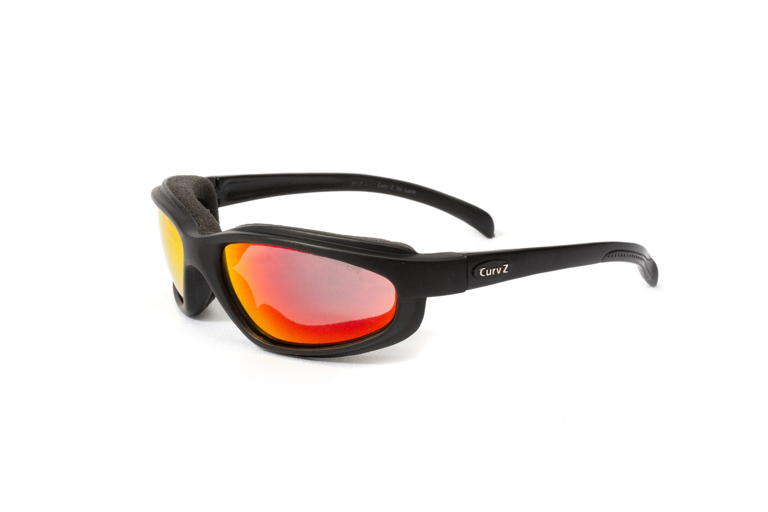 02-21 - CurvZ Fire Red Sunglasses in Matte Black Frames and Fire Red Lenses