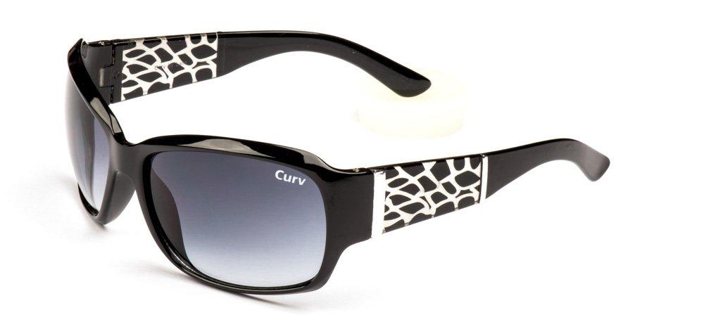 01-18 - Curv Snake Skin Sunglasses with Large Gradient Smoke Lenses in Black Glossy Frames01-18 - Curv Snake Skin Sunglasses with Large Gradient Smoke Lenses in Black Glossy Frames