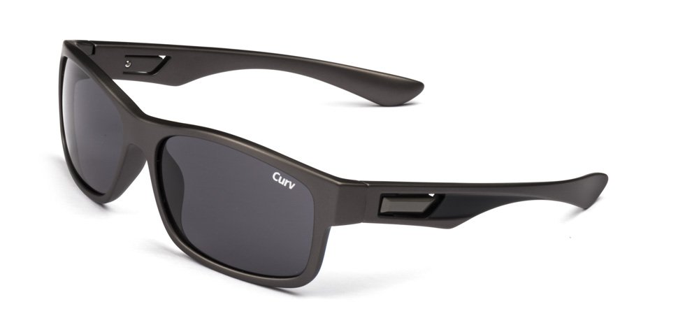01-77 Curv Gunmetal Square Sunglasses