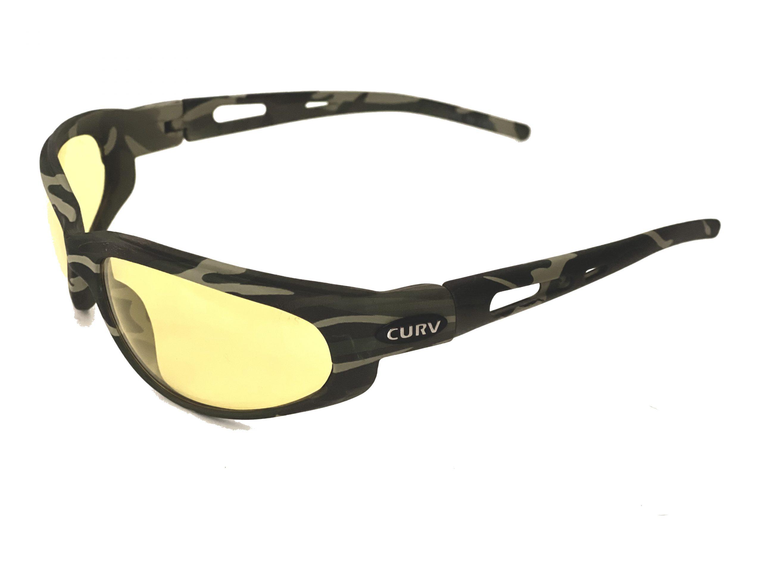 01-30 - Curv Camo Frame Sunglasses with Yellow Lenses