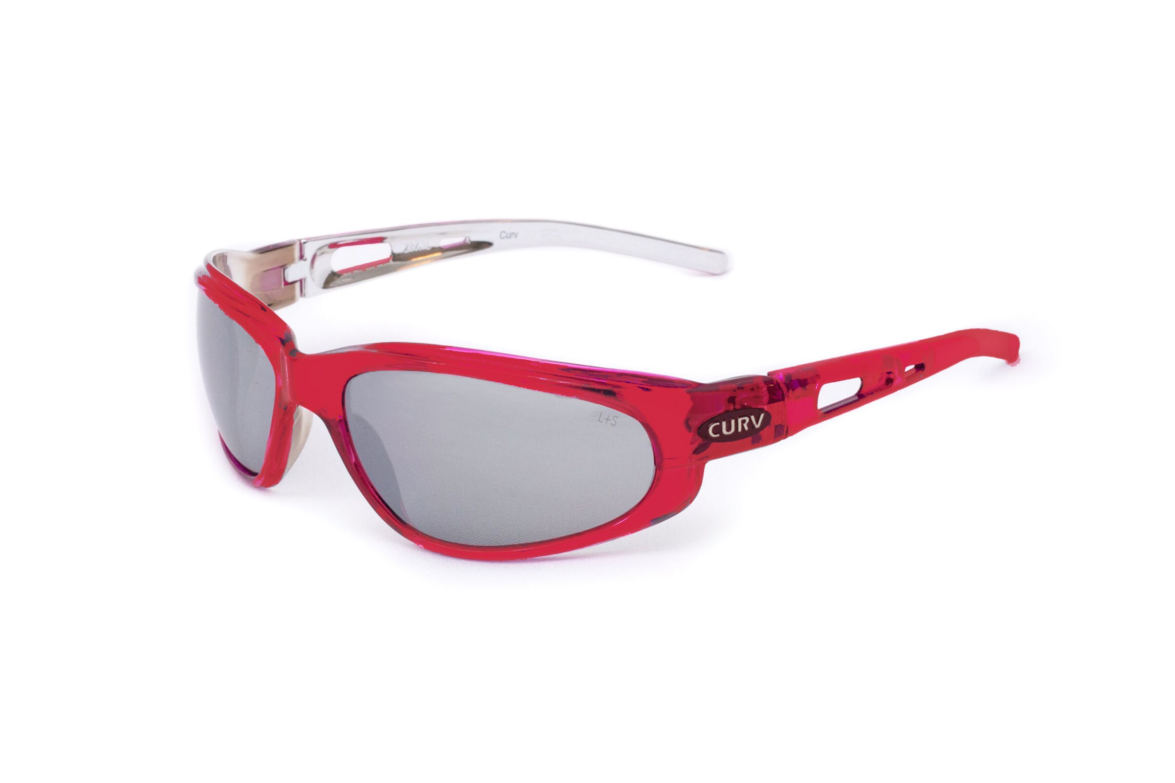 01-83 Curv Crystal Red Sunglasses